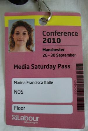 Mijn zaterdag press pass voor de Labour conventie