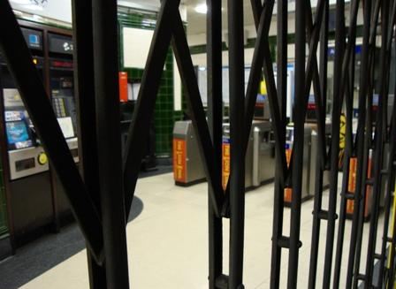 Covent Garden undergroundstation, een van de vele gesloten stations