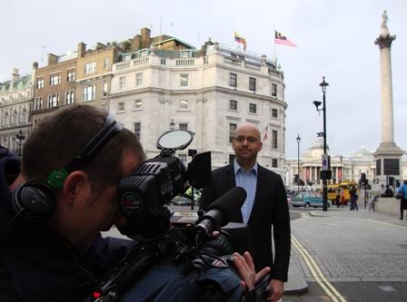 Nog een poging aan de andere kant van Trafalgar Square