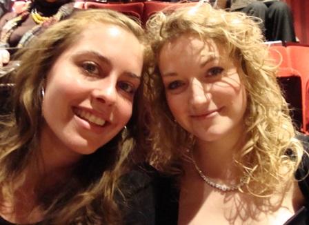 In The Royal Opera House voordat de balletvoorstelling Cinderella begint