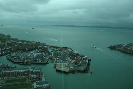 Uitkijkend op Isle of Wight