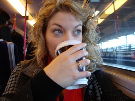 Onderweg naar St. Albans waar Arjen woont, de eerste keer dat ik in de UK in een trein zat. Vanaf daar was het nog 4 uur rijden naar Manchester