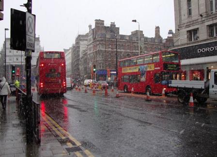 Sneeuw in Londen