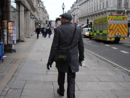 Chasing Arjen on Oxford Street