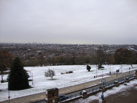 Bewijs dat het toch gesneeuwd heeft in Londen